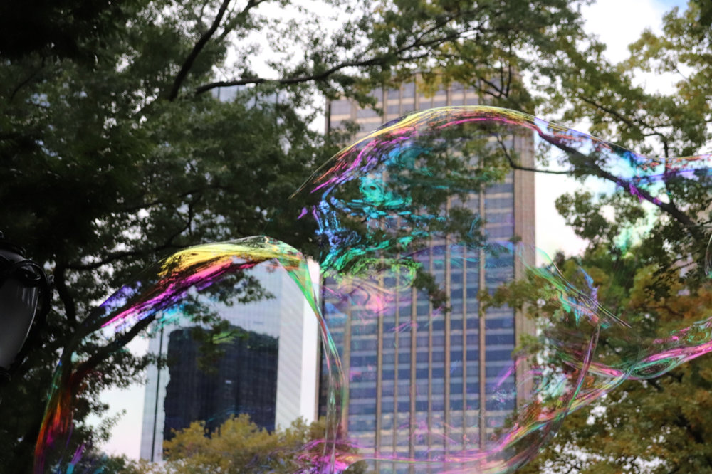 Bubbles in Central Park by Kami Efron
