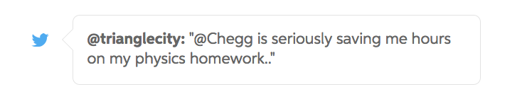 chegg study saves students hours on homework