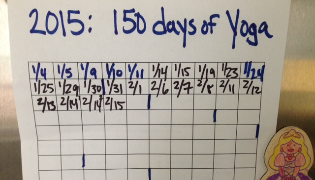 my yoga tracking chart