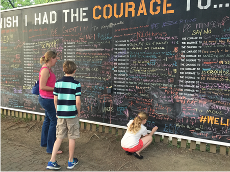 Courage Wall: Georgetown University SCS, June 2015