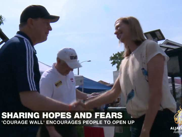 Courage Wall: Aljazeera, May 2015
