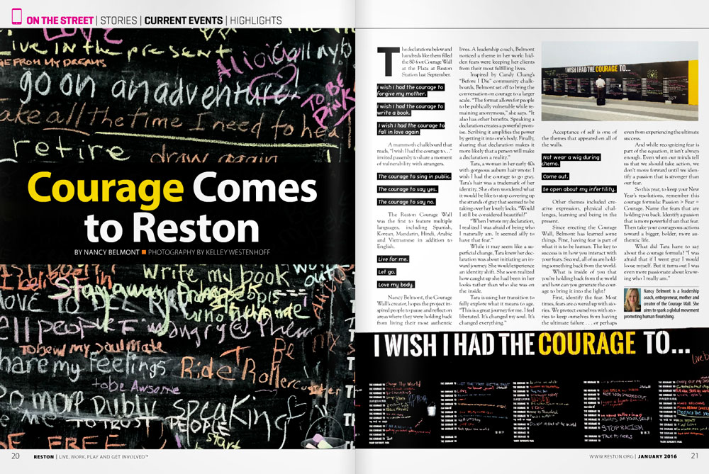 Courage Wall: Reston Magazine, January 2016