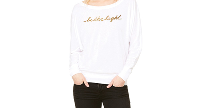Be the Light Dolman Long Sleeve Tee