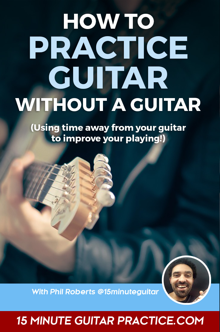 Learn to practice guitar without it near you. Learn more.
