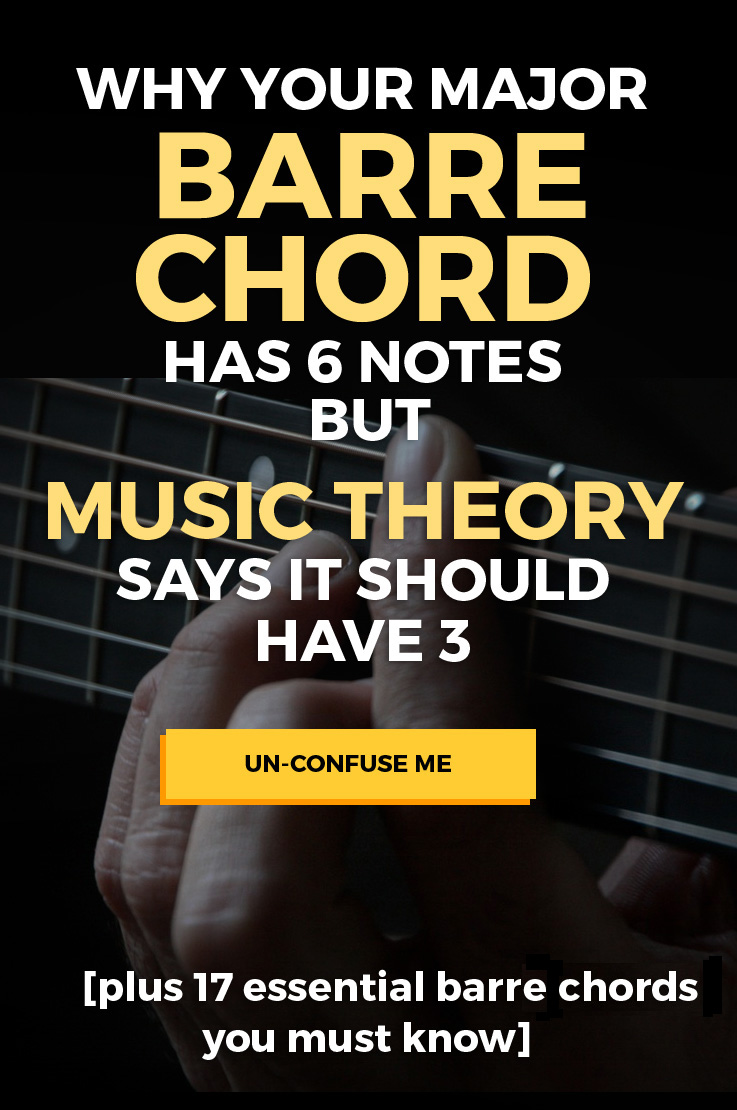 Why Your Major Barre Chord Has 6 Notes When Music Theory Says It