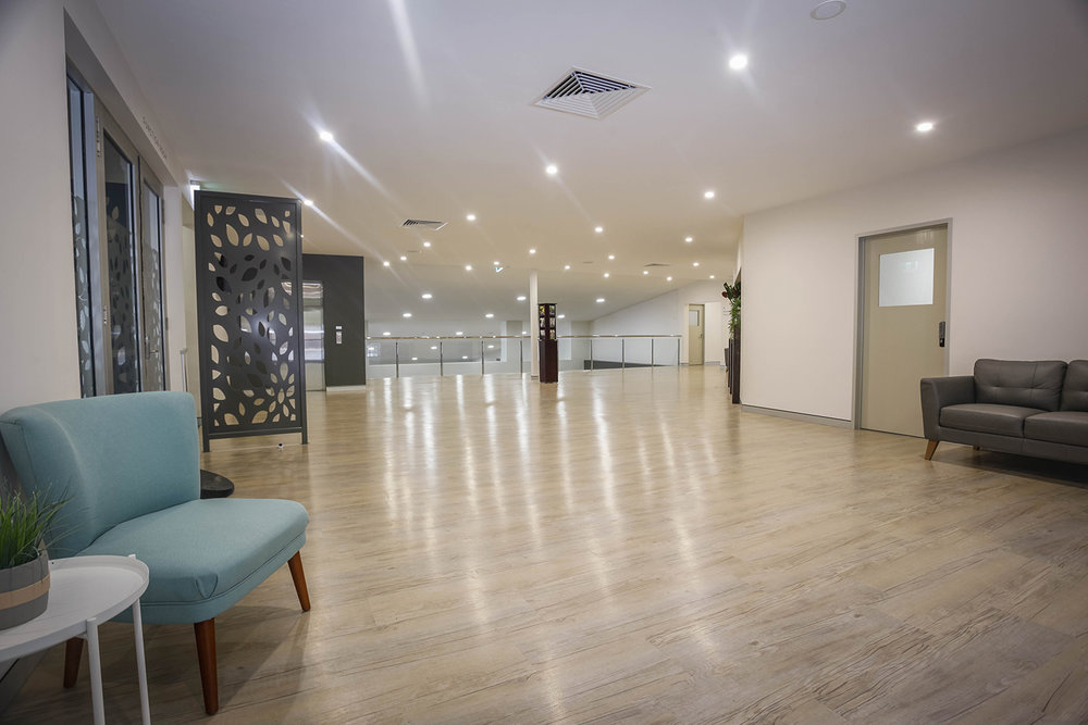 Goodlife rear entrance foyer