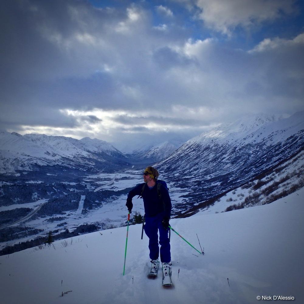 Skiing Turnagain Pass, Girdwood, Alaska