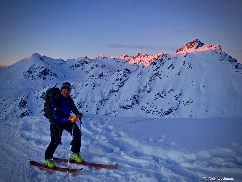 Skiing Hatcher Pass, Talkeetna Mountains, Alaska
