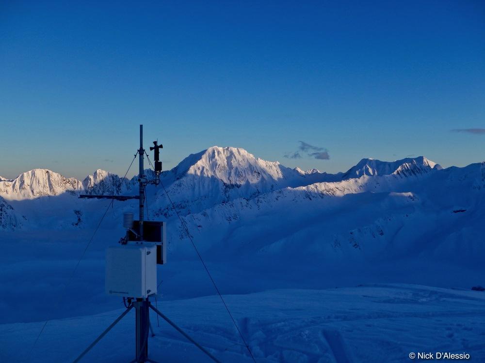 Weather station, kickstep mountain, Alaska