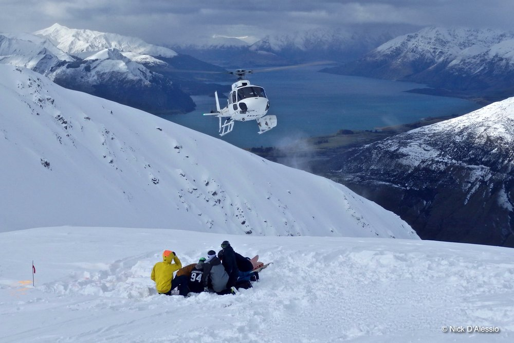 Heliskiing New Zealand. Photo by Ski Guide Nick D'Alessio