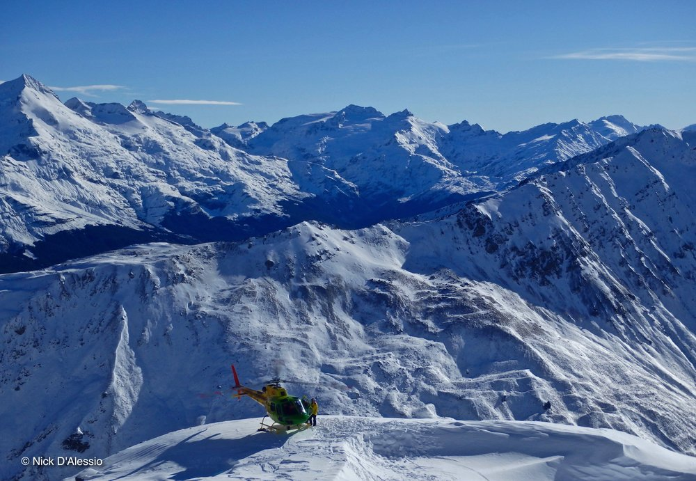Heli skiing. Photo by Ski Guide Nick D'Alessio