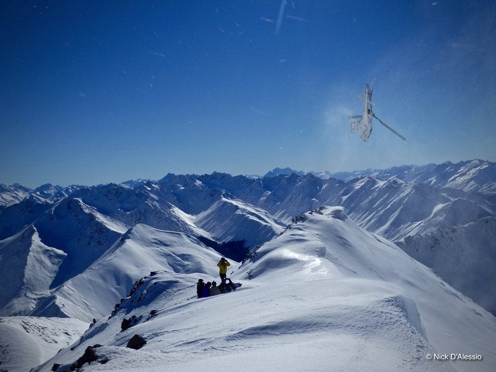 Heli skiing with Ski Guide Nick D'Alessio