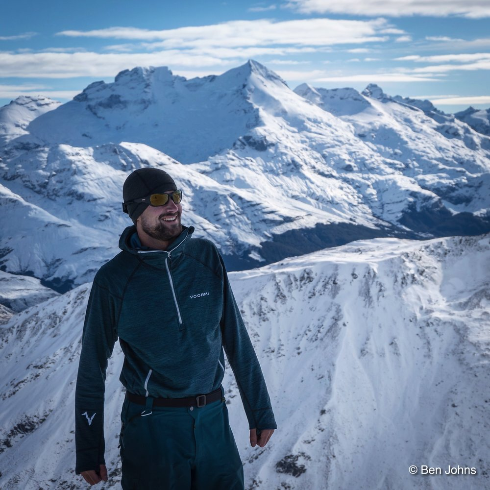 Ski Guide Nick D'Alessio in New Zealand