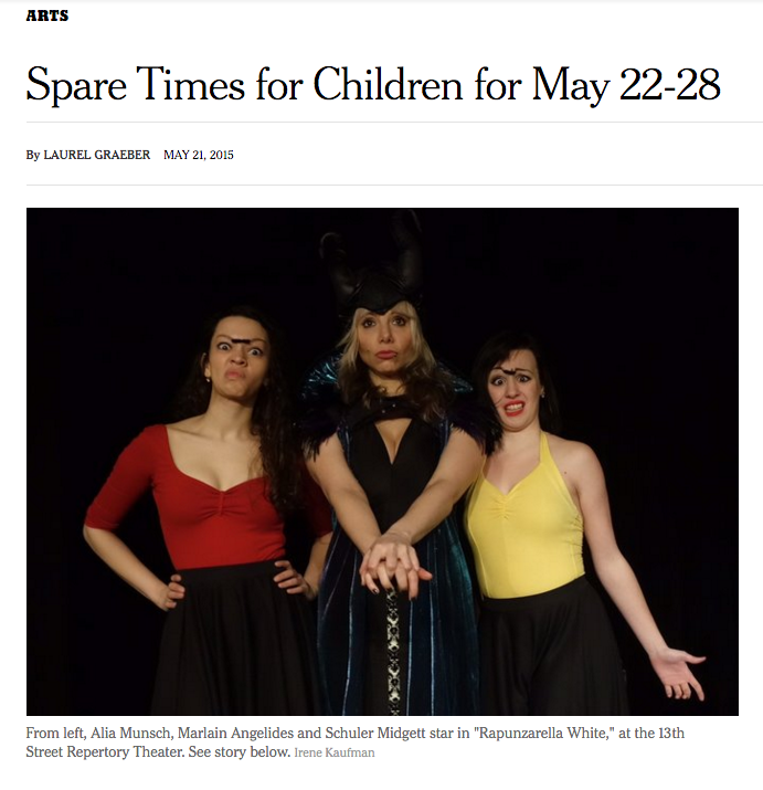 New York Times Review of RAPUNZARELLA WHITE Feb-June 2015