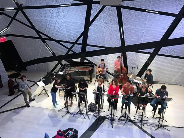 Marlain Angelides in rehearsal at National Sawdust for SAMA: An American Requiem