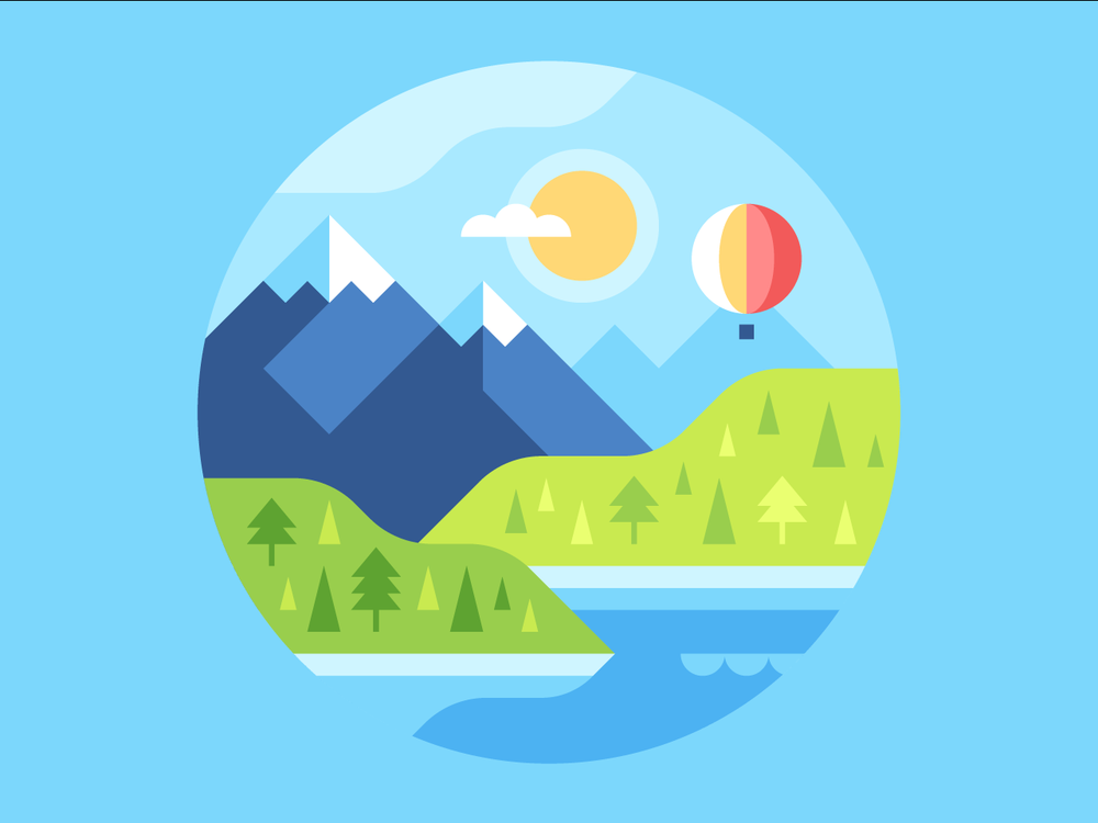 Mountain watch face backgrounds and illustrations by Alex Pasquarella
