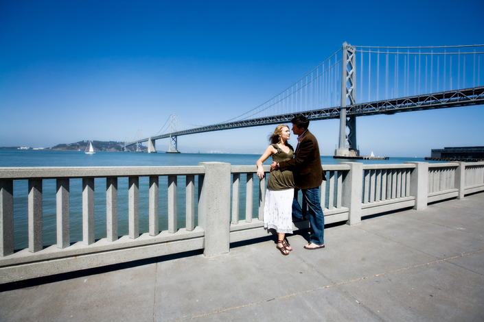 bay bridge engagement photography