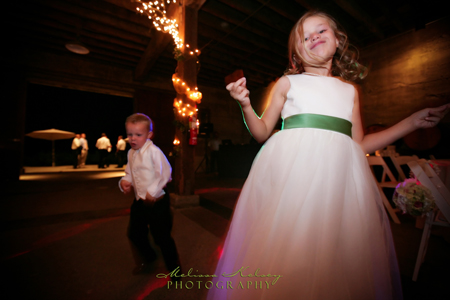 dancing at northern california winery wedding
