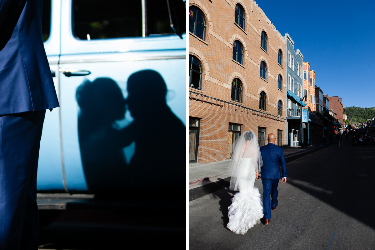 park city utah wedding on main street