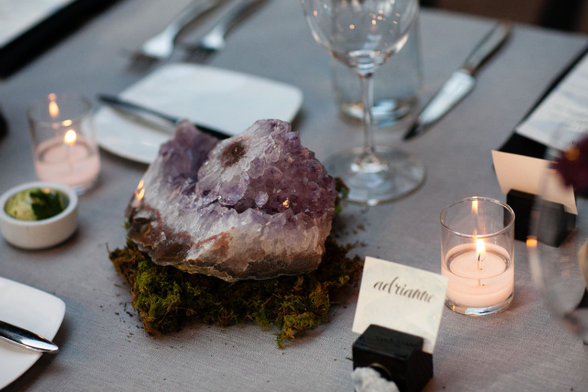 geode wedding centerpieces