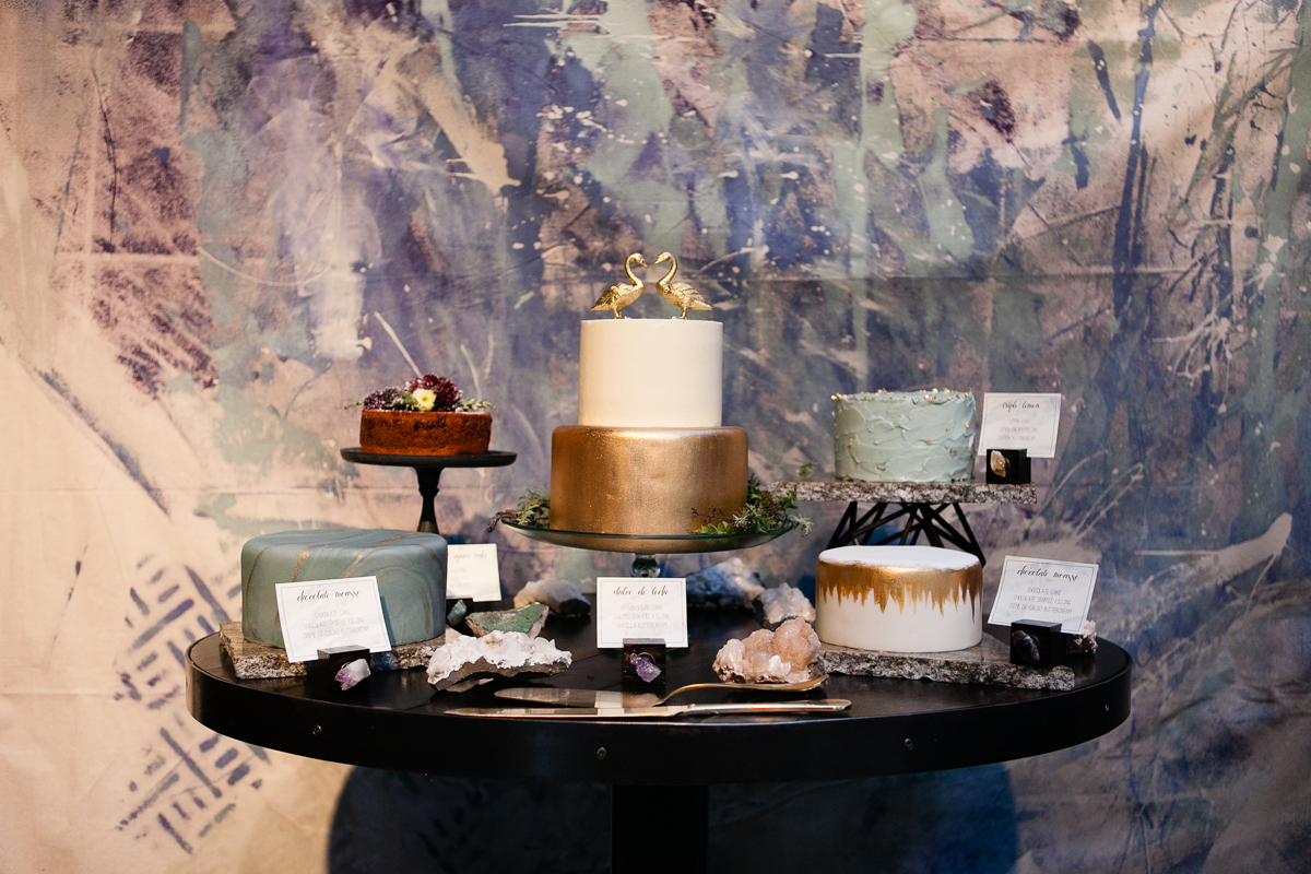 metallic gold wedding cakes by deer valley resort