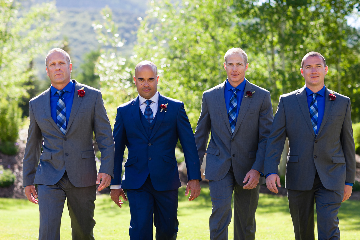 groomsmen at park city wedding
