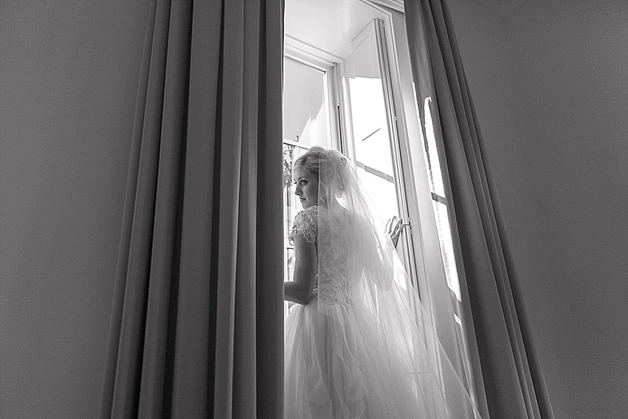 bride in window utah weddings