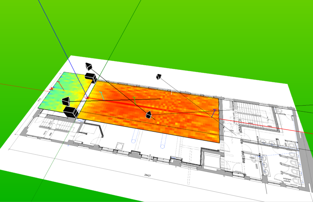 Danley Direct 3D prediction of SPL and speaker integration from venue site plan