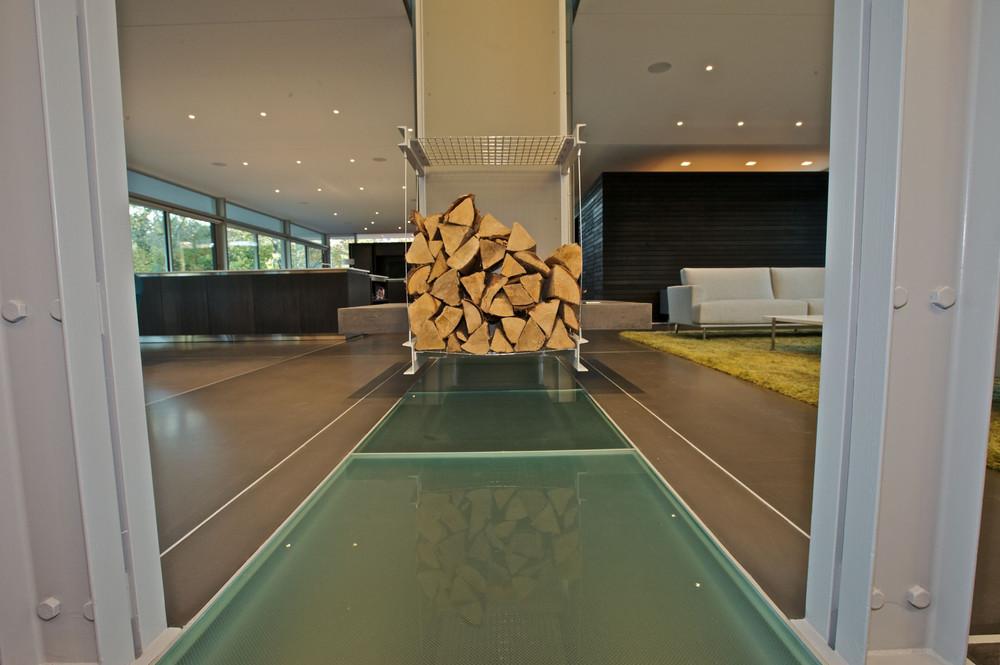 Custom glass floor