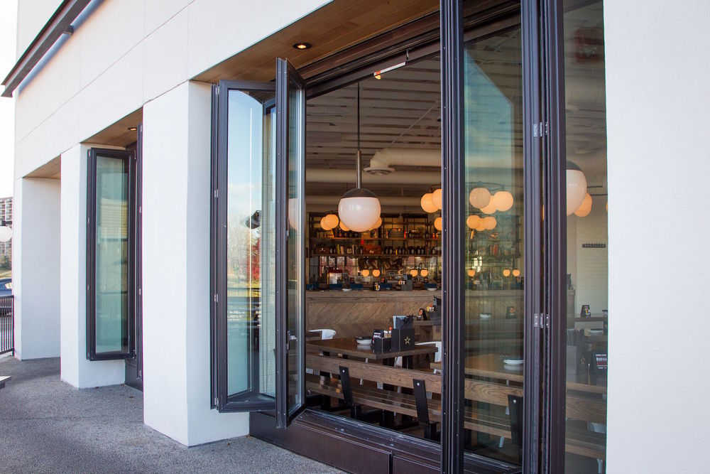 US Aluminum folding Monterey doors & National Westhills u2014 Thermal Aluminum u0026 Glass