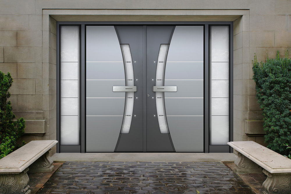 An abundance of entrance space   Each door panel can be up to 30′ 3″ high and 4′ 3″ wide while adhering to building codes for structural strength, thermal performance and anti-burglary protection.