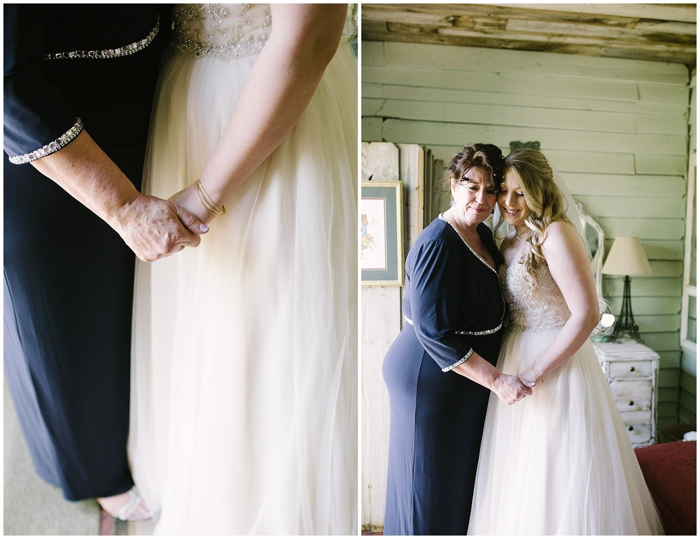 Sydney and her mother did a first look. I LOVE when a bride does a first look with her parent!