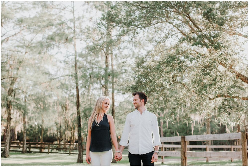 Engagement photos on a farm. Kimberly Smith is a wedding photographer in south Florida