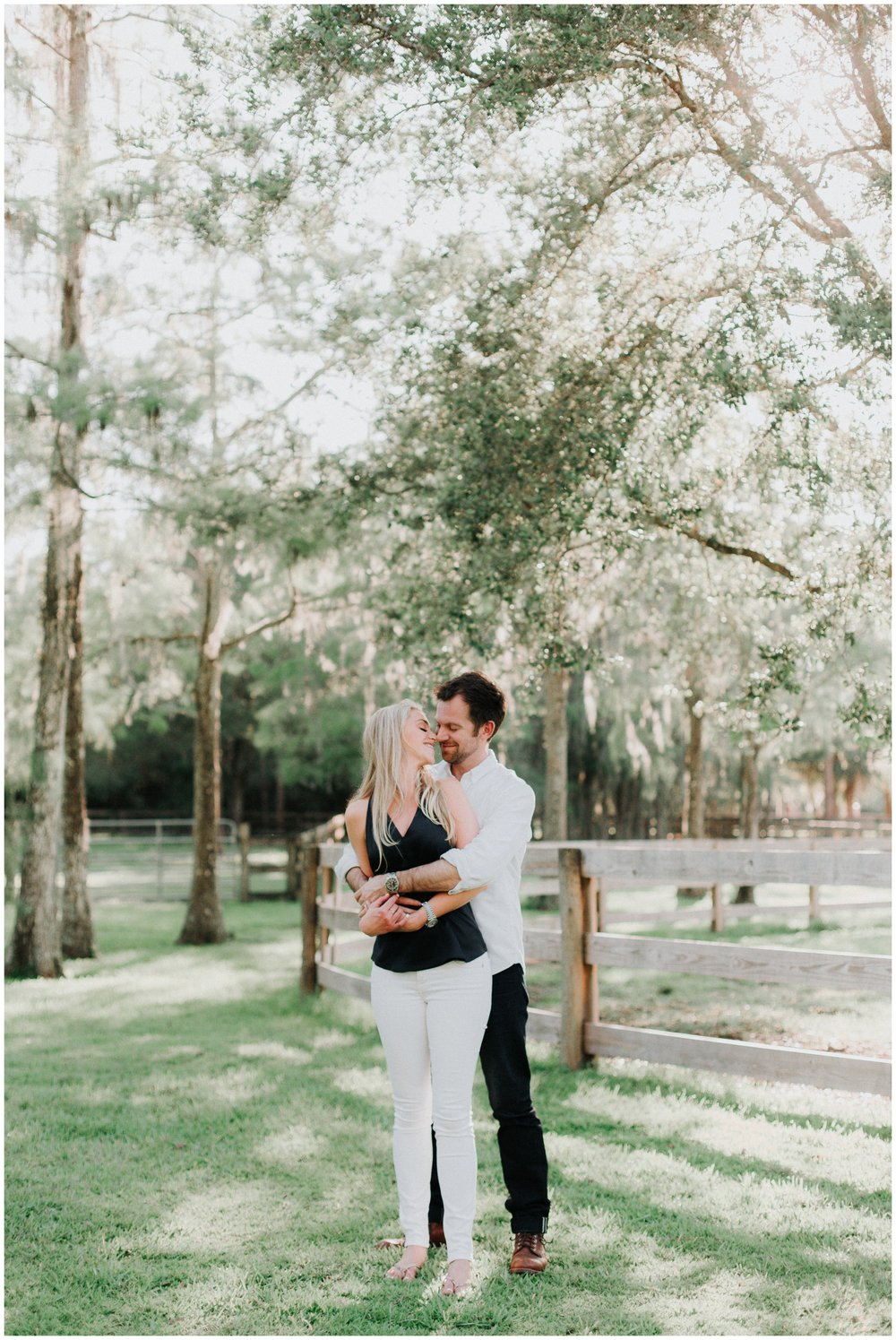 Engagement photos in Jupiter Florida at BMR Stables. Planning your engagement session at a farm.