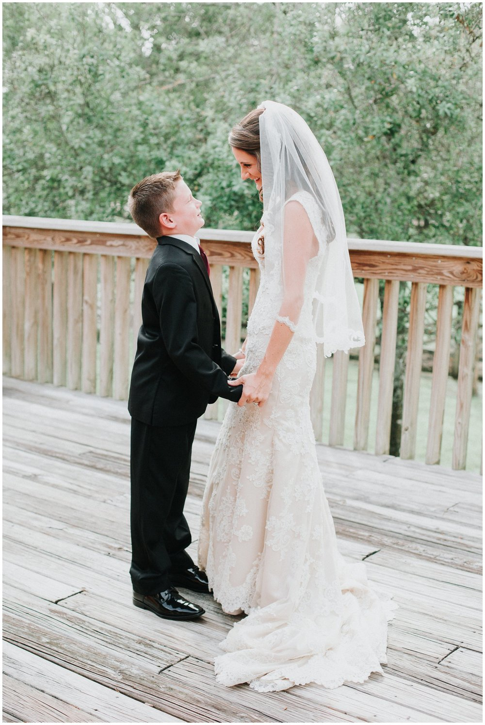 The bride with her sweet son. As a mom, this photo melts my heart!