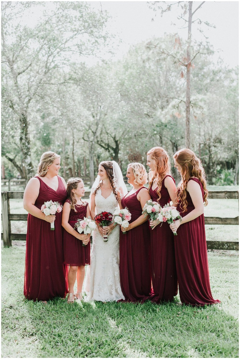 Even the burgundy bridesmaid's dresses were the perfect fall tones.