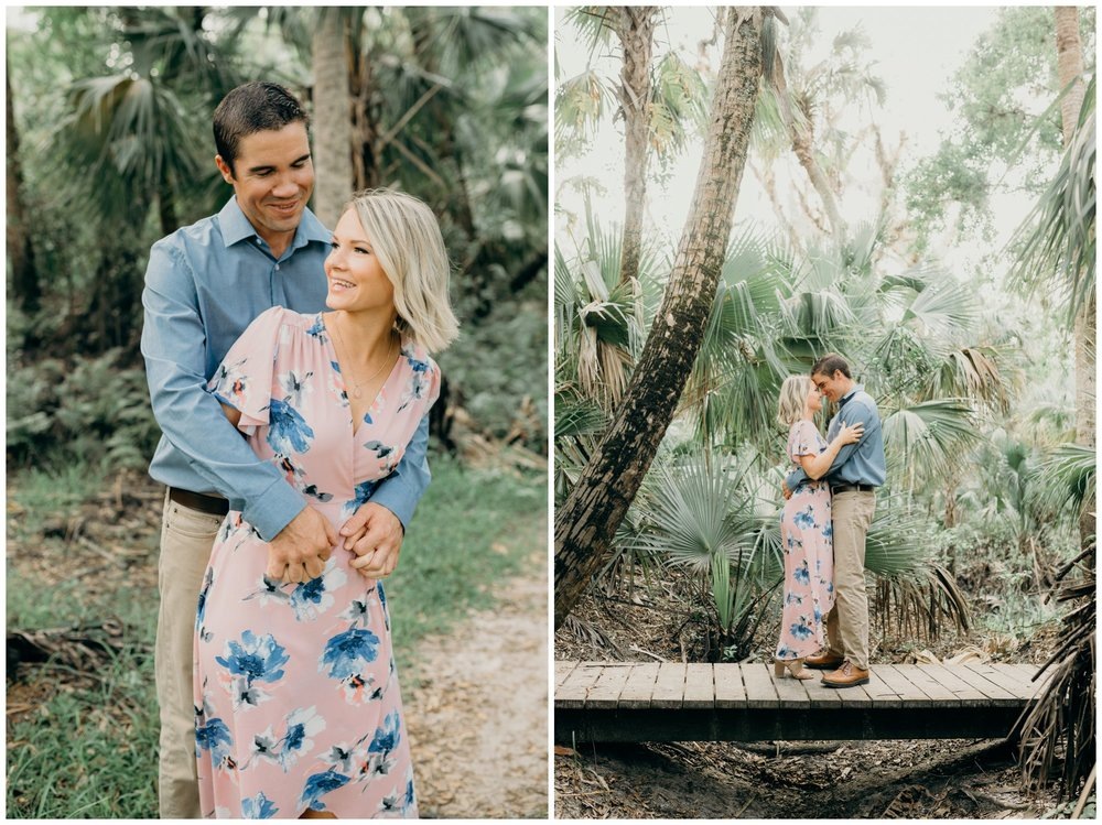 Kimberly Smith Photography- South Florida Wedding Photographer- Jupiter Photographer- Palm Beach Wedding Photographer- George LeStrange Preserve- Lauren and John- Woodsy Engagement Photos_0011.jpg