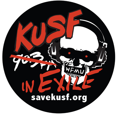 Broadcasting live from KUSF in Exile today from 4-5pm. Will be playing some favorites and revealing two new songs (one of which will be live). Support local radio!