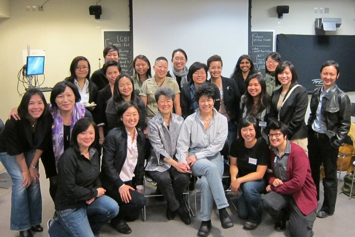 Q-Wave Meeting with special visitors: our sheroes Helen Zia and Lia Shigemura!
