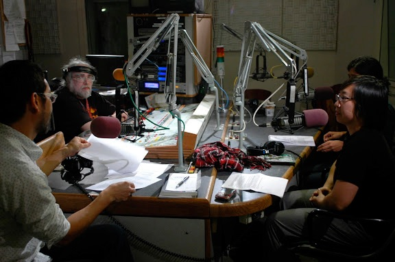 Live interview with Q-Wavers for WBAI radio broadcast!