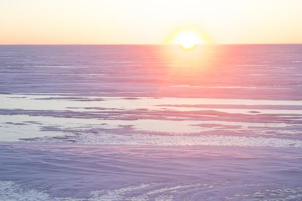 Sweet Spirit Apothecary New Year's day Sunset on frozen Lake Winnipeg