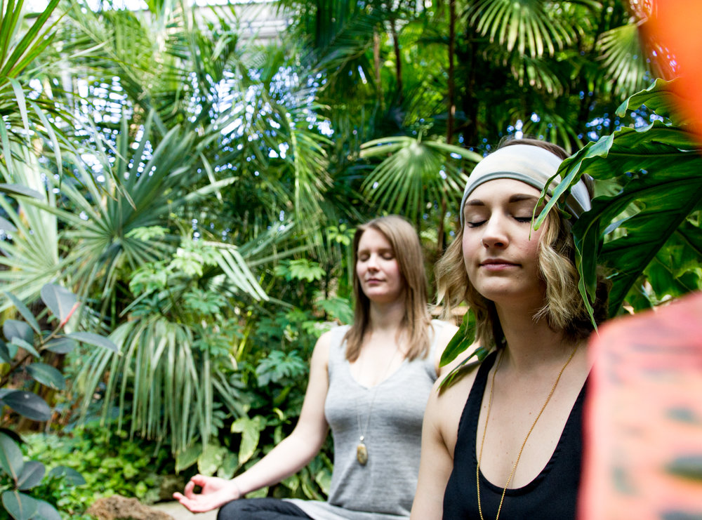 The Botanical and Shift Yoga at the Assiniboine Park Conservatory in Winnipeg, Canada // via www.thebotanical.ca