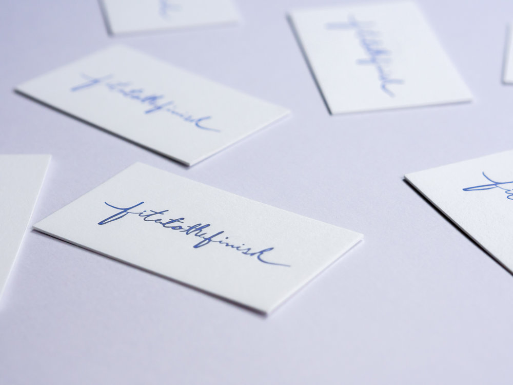 Fite To The Finish Business Cards |    View Project