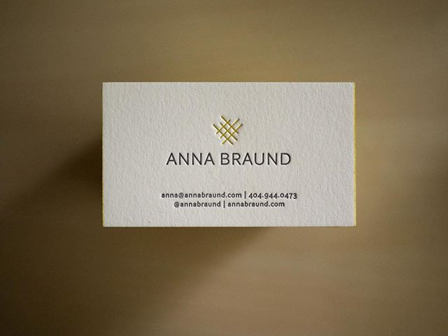 #dailydoseofpaper  Printed for @annabraund  On 220lb Crane Lettra with painted edges! 💛