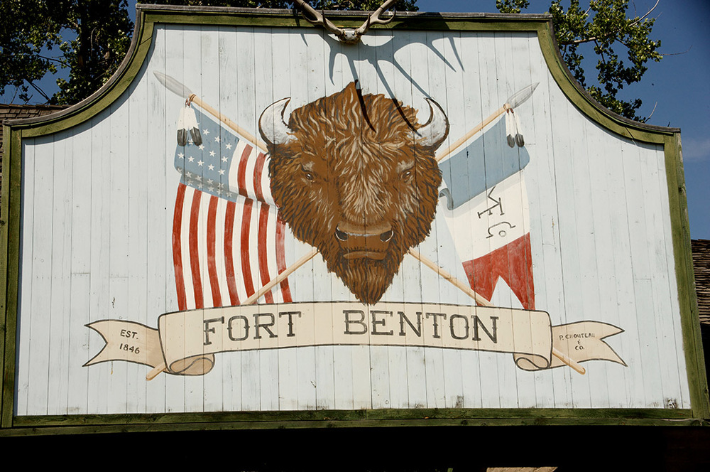 Entrance sign at Ft. Benton