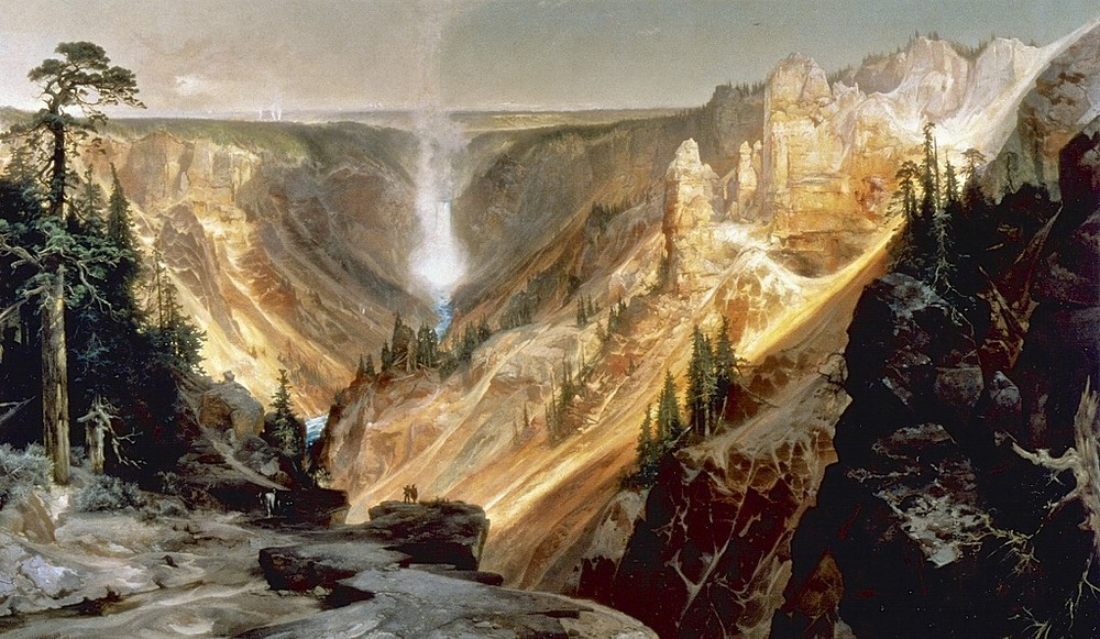 Thomas Moran's oil of the Grand Canyon of the Yellowstone, 1872. Courtesy US Dept. Interior Library, Washington, DC