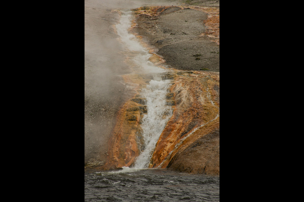 Geyser runoff into Firehole River