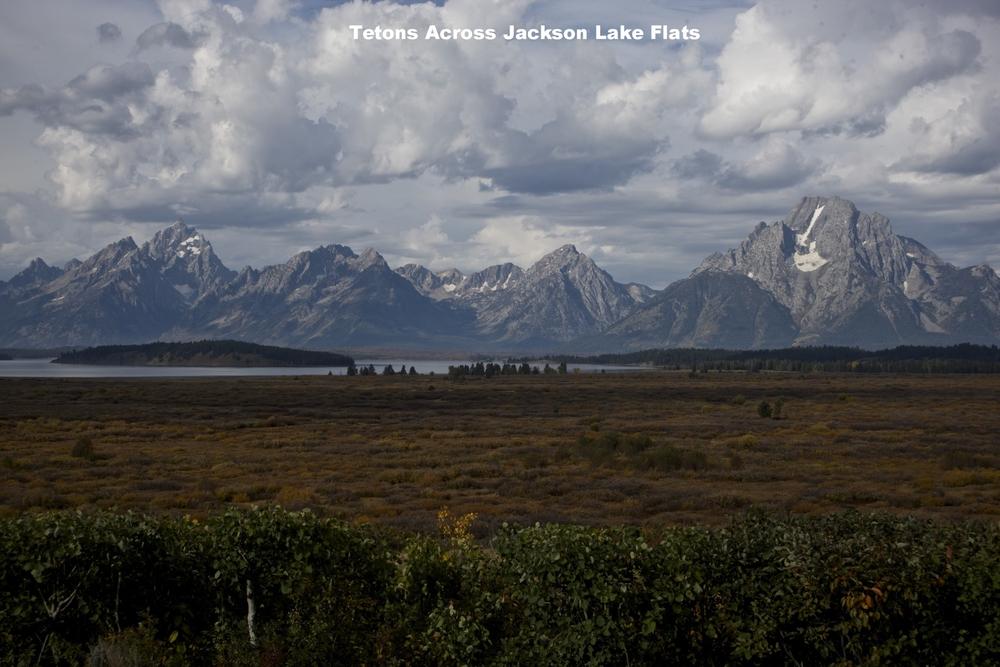 Tetons Across Jackson Lake Flats