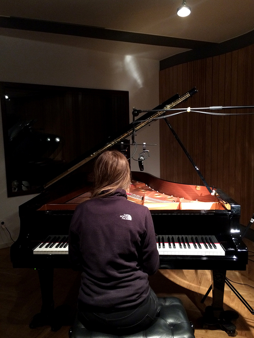 Clara at Jazzanova Studio