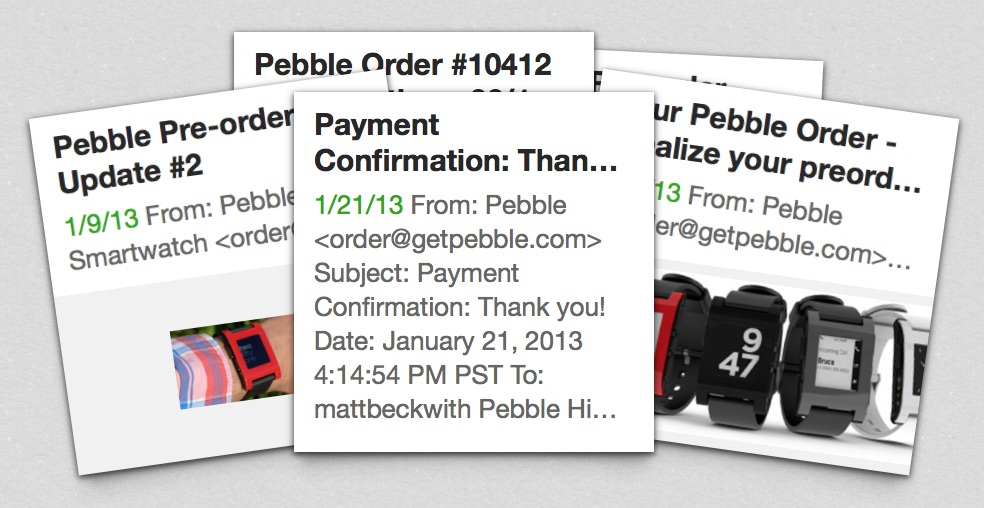 pebble emails mattbeckwith